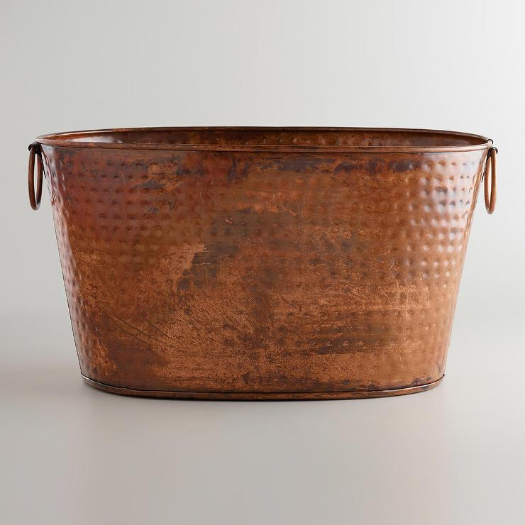 Hand Hammered Copper Bath Tub Pottery Barn
