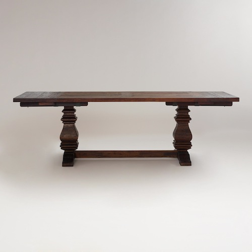 view full size. Salvaged Wood Dining Table   Look 4 Less and Steals and Deals