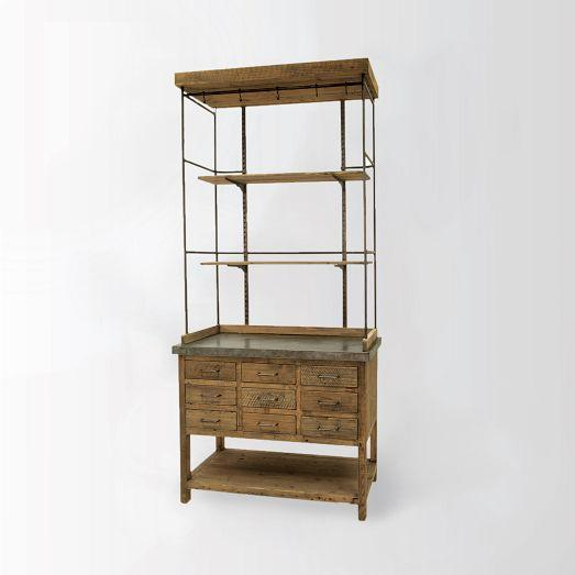 Weathered Wood Display Bookcase