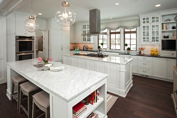 Double Kitchen Islands - Transitional - kitchen - Studio M Interiors