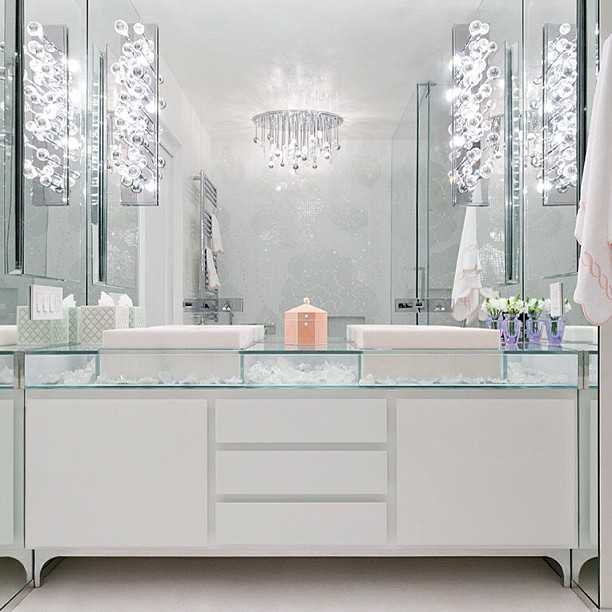 Glass Top Vanity Contemporary Bathroom Modern