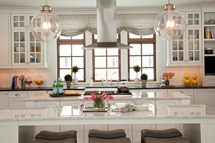 Double Kitchen Islands Transitional Kitchen Studio M Interiors