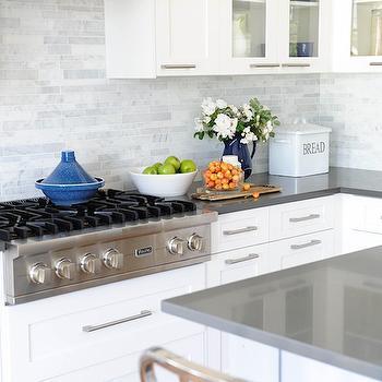 Linear Marble Backsplash, Transitional, kitchen, Kerrisdale Design
