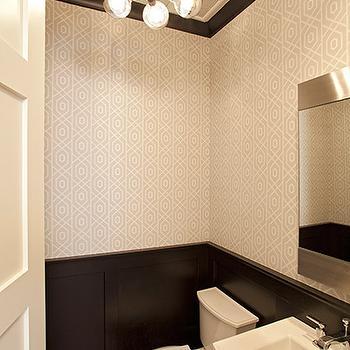 Black Wainscoting, Contemporary, bathroom, Studio M Interiors