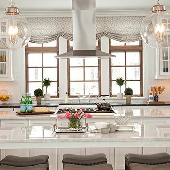 Double Kitchen Islands, Transitional, kitchen, Studio M Interiors
