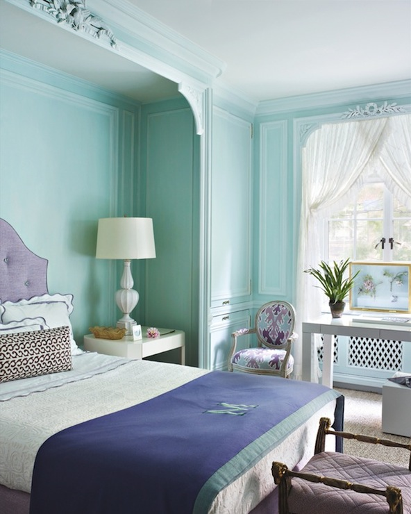 Tiffany Blue Bedroom - Transitional - living room - Tom Scheerer