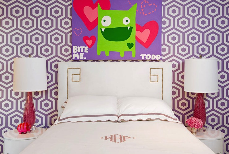 view full size  Lara Spencer   Absolutely gorgeous girl s room. Girls Bedroom Wallpaper Design Ideas