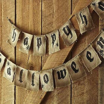 Happy Halloween Banner, Pottery Barn