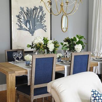 6 Light Marigot Chandelier, Transitional, dining room, Kerrisdale Design