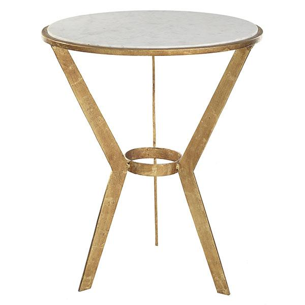 Threshold round grey marble top accent table for Round marble side table