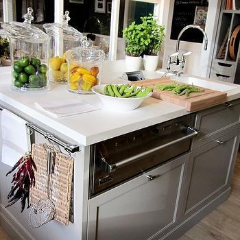 Warming Drawer in Kitchen Island, Transitional, kitchen, Deulonder