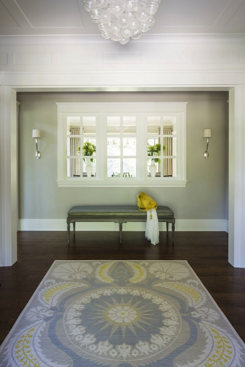 Yellow And Gray Foyer Transitional Entrance Foyer