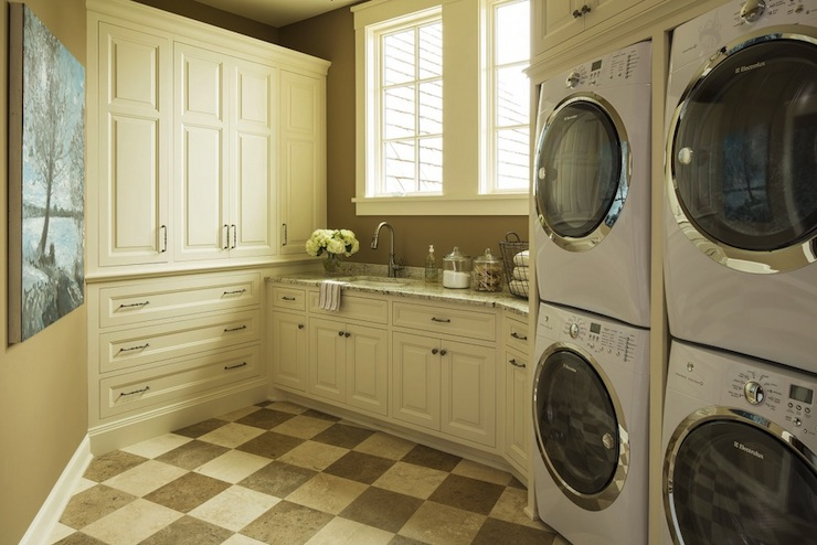 Double Washers And Dryers Traditional Laundry Room