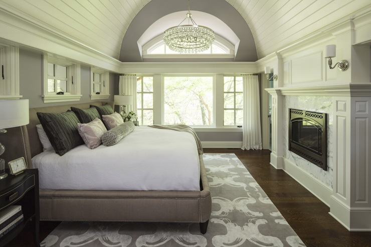 Barrel Ceiling Transitional Bedroom Sherwin Williams Ponder Martha O 39 Hara Interiors
