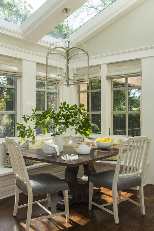 Breakfast nook ideas transitional dining room for Breakfast room ideas