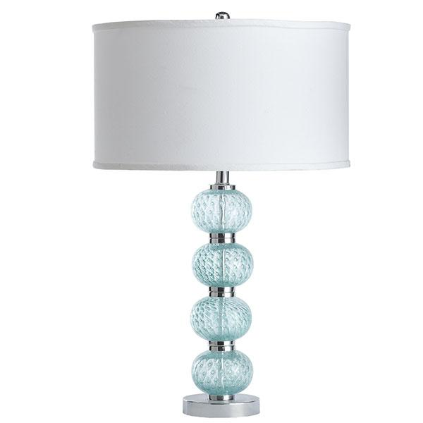 Blue Stacked Bubble Glass Ball Lamp
