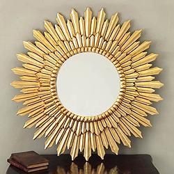 Gold Sunbeams Sunburst Mirror