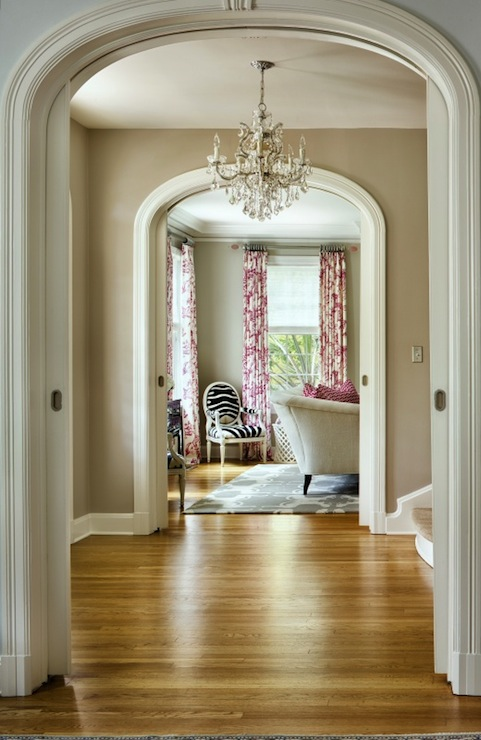 Foyer Arch Designs : Arched doorway moldings contemporary entrance foyer