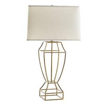 Gilt Balustrade Lamp, Wisteria