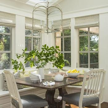 Breakfast Nook Ideas, Transitional, dining room, Benjamin Moore Revere Pewter, Martha O'Hara Interiors