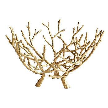 Gilt Branches Sculpture, Wisteria