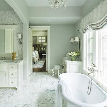 Master Bathroom Ideas, Transitional, bathroom, Benjamin Moore Silver Chain, Martha O'Hara Interiors