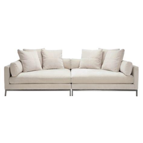 Modern Ivory 2 Piece Sofa