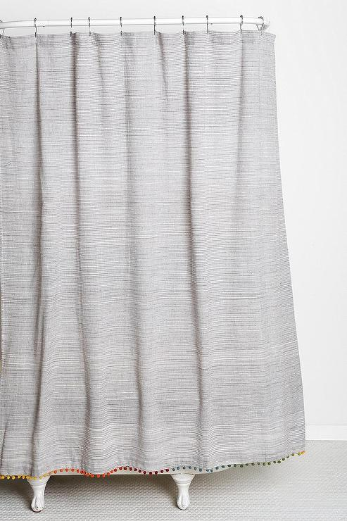 Green And Gray Shower Curtain