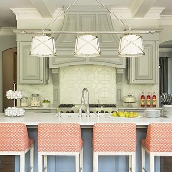 Gray and Pink KItchen, Vintage, kitchen, Hirshfield Metro, Martha O'Hara Interiors
