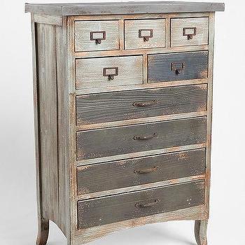 Industrial 9 Drawers Distressed Storage Cabinet