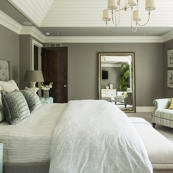 Gray and Blue Bedroom, Transitional, bedroom, Benjamin Moore Winter Gates, Martha O'Hara Interiors