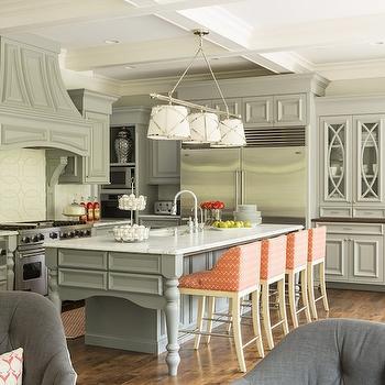 Gray KItchen Cabinets, Transitional, kitchen, Hirshfield Metro, Martha O'Hara Interiors