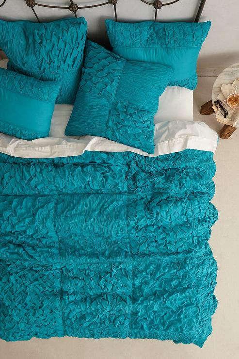 Cotton Voile Squares Quilt : teal quilt bedding - Adamdwight.com