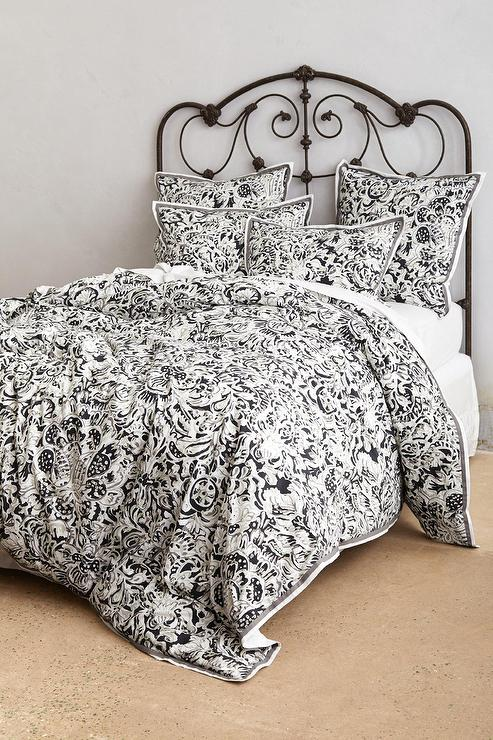 covers and cotton chic geo home gabriela black cover fuente twin sets duvet white design contemporary product