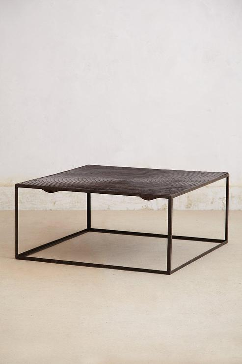 Iron Frame Spiral Pattern Top Coffee Table - Cb2 mill coffee table