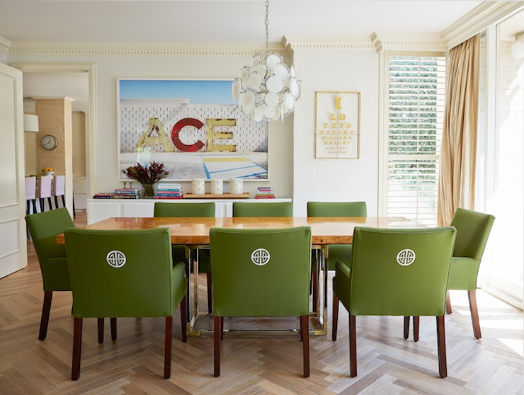 Green dining chairs for Light green dining room