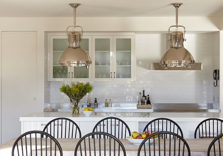 Gorgeous Kitchen With Ralph Lauren Home Montauk Pendants Over Kitchen  Island With White Quartz Countertops. Part 20