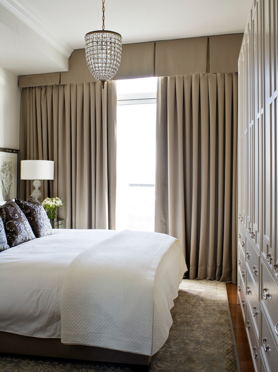 Valance Curtains Transitional Bedroom Kimberley
