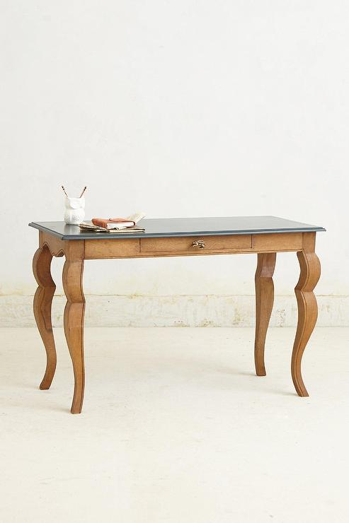 Handcarved Curved Cabriole Legs Writing Desk