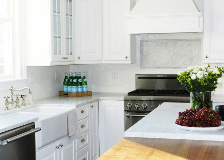 Iridescent Glass Tiles view full size - Iridescent Tile Backsplash - Transitional - Kitchen - Brooks