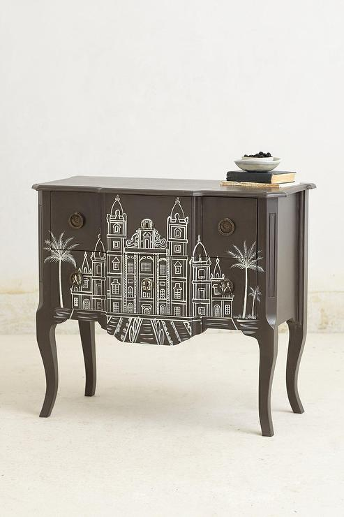 Handpainted Architecture Chest I
