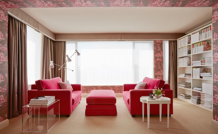 Pink And Brown Curtains Design Ideas