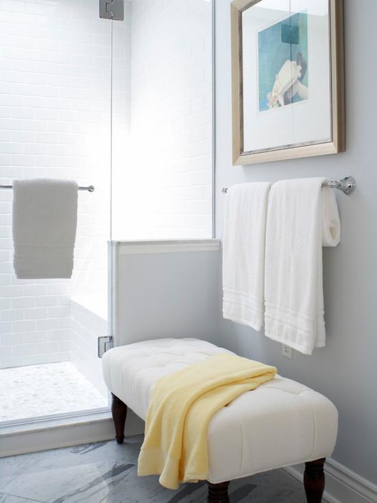 Bathroom Bench Storage Transitional Bathroom Bhg