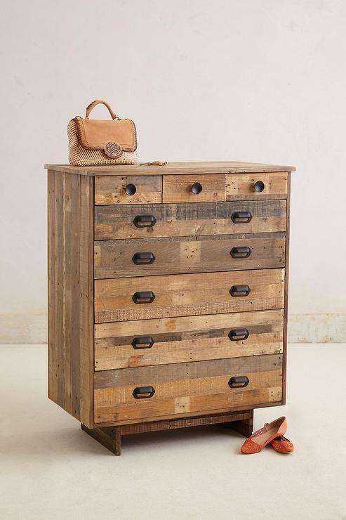 handcrafted reclaimed wood dresser