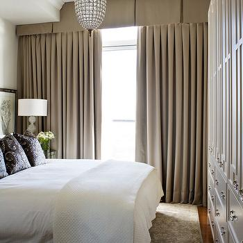 Valance Curtains, Transitional, bedroom, Kimberley Seldon Design Group