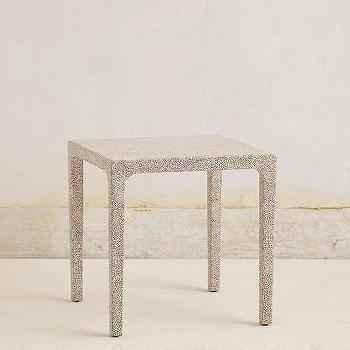 Mother Of Pearl Ivory Accent Table
