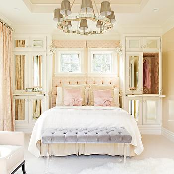 Mirrored Armoire, Transitional, bedroom, Elizabeth Kimberly Design