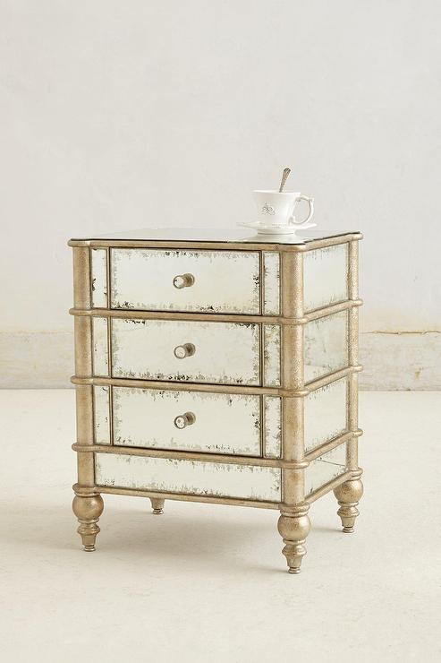 Borghese Vintage Mirrored Nightstand