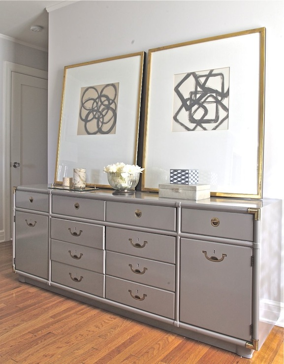Gray Dresser Contemporary Bedroom Benjamin Moore Eagle Rock Rosa Beltran Design