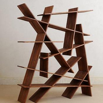 Modern Geometric Sloped And Slanted Bookcase